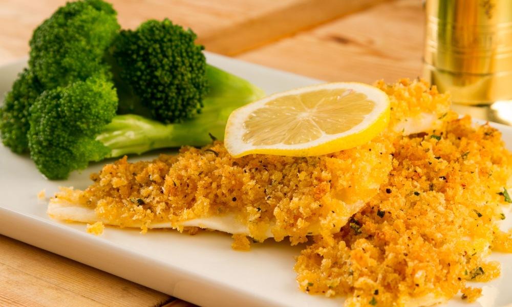 crunchy panko crumb crusted baked fish