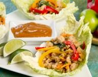 Thai Basil Chicken Wrap