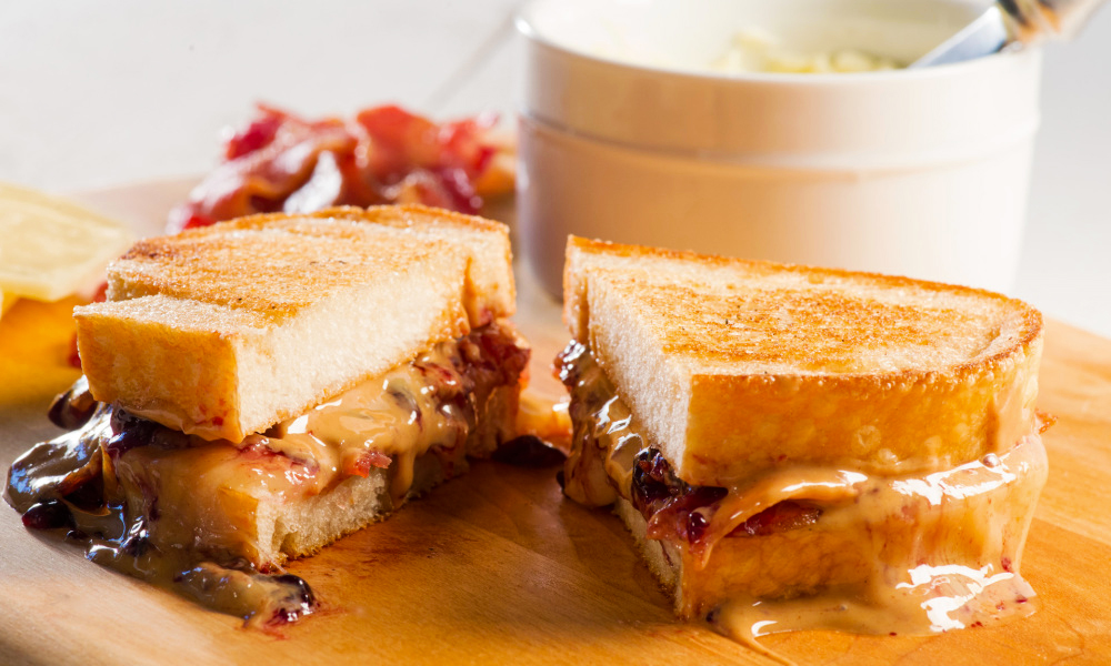 Pb J Grilled Cheese Sandwich With Bacon Recipe