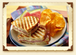 Provolone and Prosciutto Panino with Rosemary Recipe