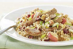 30 Minute Dijon Pork and Rice Pilaf