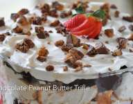 Chocolate Peanut Butter Trifle with Reese's Peanut Butter Cups