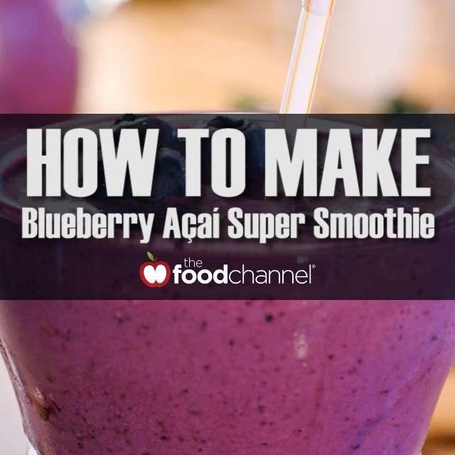 Quick Blueberry Acai Super Smoothie