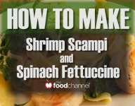 Quick Shrimp Scampi and Spinach Fettuccine