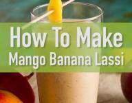 Quick Mango Banana Lassi