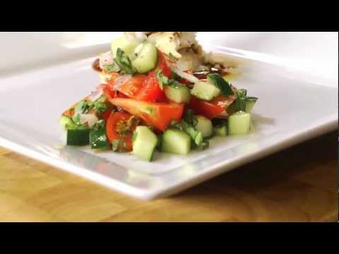Seared Tilapia with Sweet Soy Sauce and Asian Salad