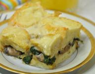 Bread Pudding Florentine for Breakfast