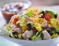Chicken Taco Rice Salad with Salsa Vinaigrette