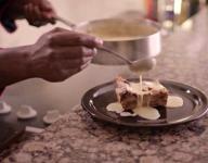 Chocolate Bread Pudding with Irish Whiskey Butterscotch Cream Sauce