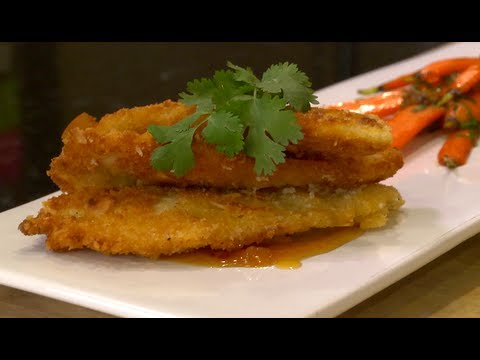 Coconut Crusted Tilapia with Apricot Glaze