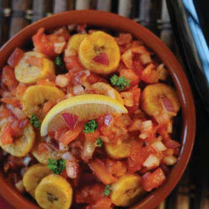 Tomato and Banana Sambal