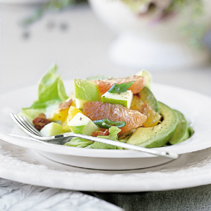 Apple Citrus Salad with Avocado and Bacon