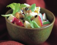 Apples and Walnuts with Stilton Cheese