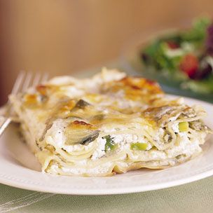 Artichoke and Leek Lasagna