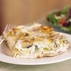 Artichoke and Leek Lasagna