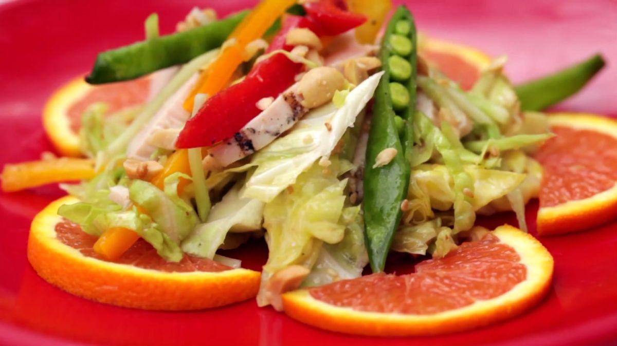 Asian Chicken Veggie Salad