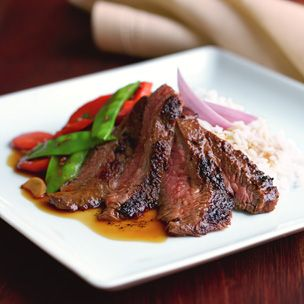 Asian Grilled Flank Steak with Vegetables