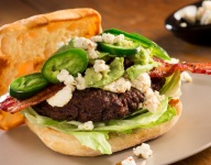 Bacon Avocado Burger with Jalapeño Goat Cheese