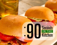 90 Second Bacon Tomato Sliders