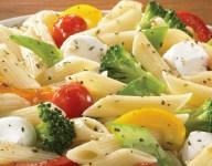 Basil Garlic Vegetable Pasta with Balsamic Vinaigrette