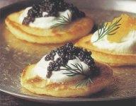 Blini with Caviar and Creme Fraiche