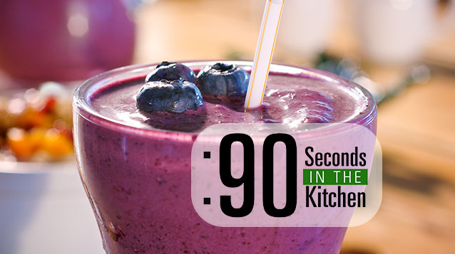 90 Second Blueberry Acai Super Smoothie
