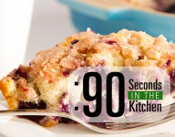 90 Second Blueberry Buckle