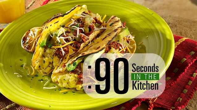 90 Second Spicy Breakfast Tacos