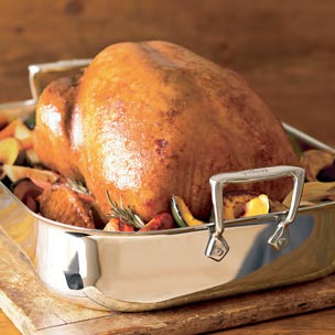 Brined Turkey with Fall Vegetables