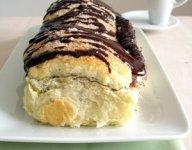 Brioche filled with chocolate ganache
