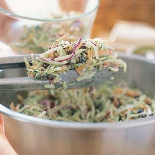 Broccoli Slaw with Pine Nuts