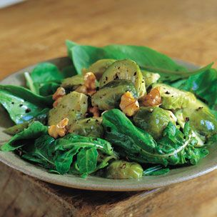 Brussel Sprouts with Walnuts and Arugula