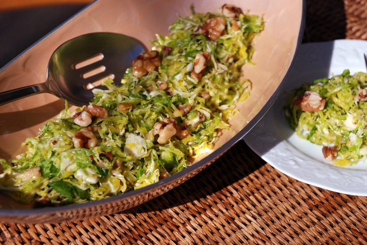 Brussels Sprouts & Toasted Walnuts Salad