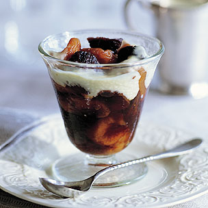 Dried Fruit Compote with Bourbon and Creme