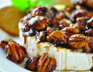 Candied Pecan Brie