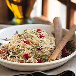 Capellini with Fresh Tomatoes and Basil