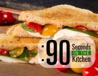 90 Second Caprese Grilled Cheese Sandwich