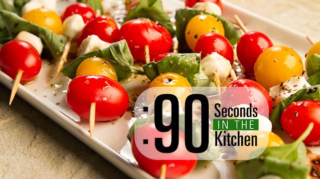 90 Second Caprese Salad Appetizer