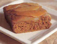 Caramelized Pear Upside Down Ginger bread Recipe