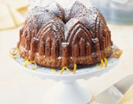 Cardamom Cake with Candied Lemon Peel