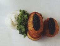 Poached Eggs with Caviar and Creme Fraiche Recipe
