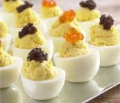 Checkerboard of Caviar Eggs