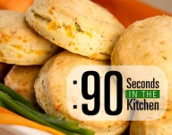 90 Second Cheddar Chive Scones