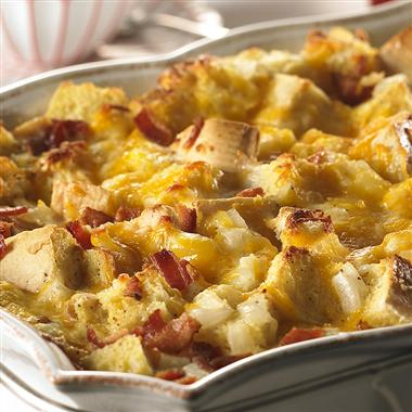 Cheesy Bacon and Egg Brunch Casserole Recipe