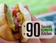 90 Second Chicago Style Hotdogs