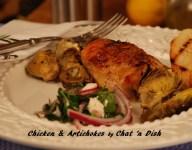 Chicken & Artichokes with Italian Parsley & Red Onion Salad