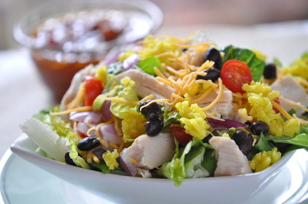 Chicken Taco Rice Salad