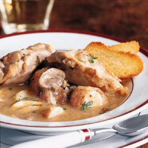 Chicken Stew in White Wine