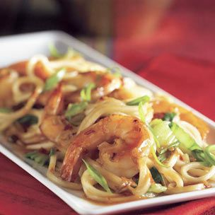 Chili-Garlic Prawns with Chinese Noodles