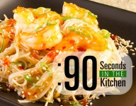 90 Second Asian Chili Shrimp with Sesame Noodles